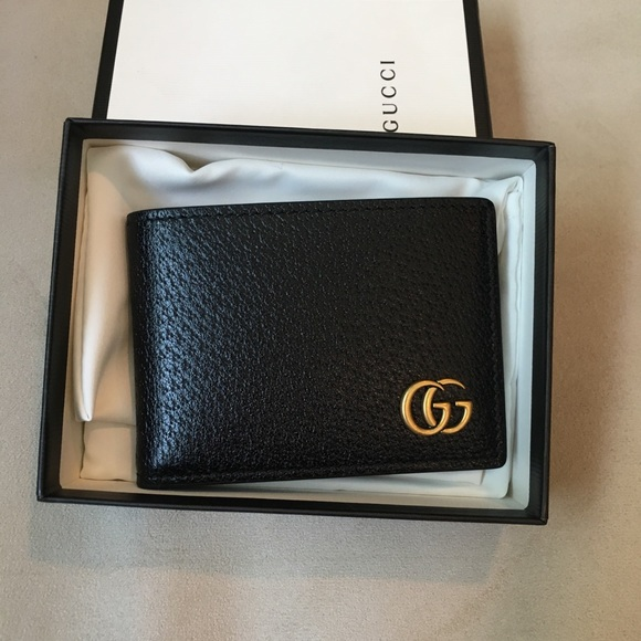 664fb974c69 Gucci Mens GG Marmont Leather Bi-fold Wallet